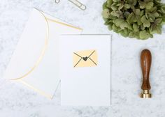 Gold foil and letterpress handprinted greetings card.  Perfect for Valentines day