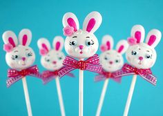 Easter Bunny Cake Pops by Bakerella,