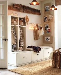 Let these mudroom entryway ideas welcome you home. Instantly tidy up and organize your hallway or entryway with industrial mudroom entryway. Entryway Storage, Home, Small Spaces, House Design, Room Inspiration, Creative Home, House Interior, Entryway, Home Deco