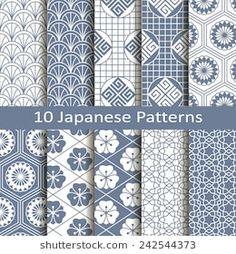 Draw Flower Patterns set of ten japanese patterns - Japanese Textiles, Japanese Patterns, Japanese Prints, Japanese Design, Motifs Textiles, Textile Patterns, Print Patterns, Flower Patterns, Japanese Paper