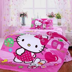 Find More Bedding Sets Information about China cartoon Hello Kitty 3 pieces children bedding set,High Quality bedding sets for children,China bedding textile Suppliers, Cheap bedding set girls from Amymoremore mall on Aliexpress.com