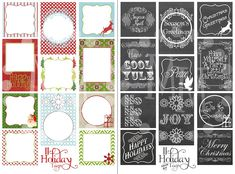 Printable Christmas Tags (2 Sets) - Free printable gift tags for Christmas