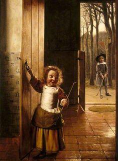 Pieter de Hooch - De kleine golfspelers