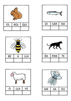 Ejercicio de Ordenar síl·labes-animals Spanish Classroom, Never Grow Up, Growing Up, Learning, School, Cactus, Animals, Notebook, Activities