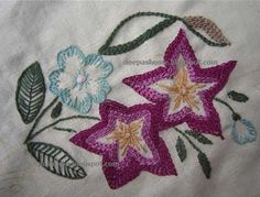 This and that...my random thoughts: Embroidered bedlinen- back in action with Kashmir work