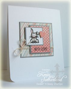 Sweet'nSassy Mini Critters    SNSS January Release Day!!   LOVE the layout of this card...love the stamp set too!