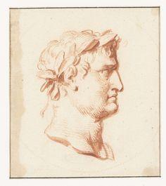 Cabeza del retrato del emperador romano Nerón, probablemente, Peter Paul Rubens, Jacob de Wit, 1587 - 1640