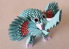 How to make 3d origami elephant