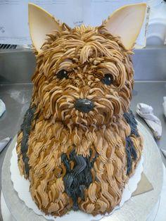 Dog cake #YorkshireTerrier #AmazingCake #GreatCakeDecorating