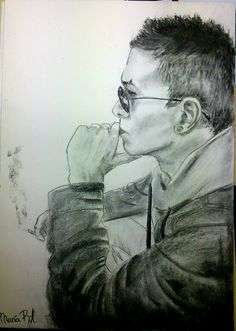 Dibujo #carboncillo #badboy . Love<3