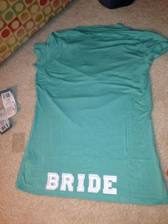 The back of the brides shirt