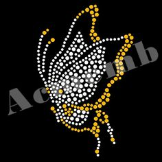 Shining Butterfly Animal Rhinestone Transfers Iron On New Design Dot Painting Tools, Dot Art Painting, Fabric Painting, Rhinestone Art, Rhinestone Transfers, Tulip Painting, Stone Painting, Bling Wallpaper, Butterfly Project