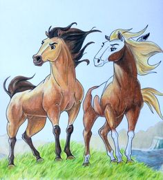 Spirit el corcel indomable/spirit stallion of the cimarron (My Drawing) #Drawing #Art #Mydrawing #dreamworks