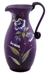 Fenton Hand Painted Moonstruck Bluebells Pitcher - - My site Purple Love, Purple Glass, All Things Purple, Shades Of Purple, Pink Purple, Purple Stuff, Fenton Glassware, Vintage Glassware, Malva