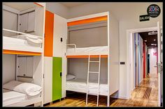 Dormitory, Hostel, Bunk Beds, Valencia, Youth, Urban, Furniture, Photography, Home Decor