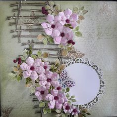 Jagruti shah prolific artsandcrafts:  <!--more-->PHOTO FRAME USING HEARTFELT  FLOWERS B...