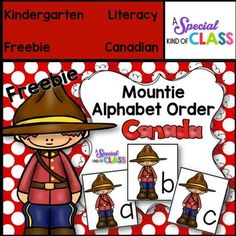 Mountie Alphabet Freebie