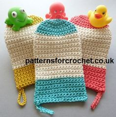 "Free crochet pattern wash mitt ~ U.S. terms ~ finished size approx. 4.25"" x 7.5"" ~ FREE CROCHET pattern"