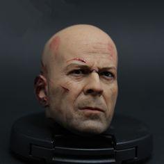 Aliexpress.com: Compre Hot Sale 1/6 figura cabeça sculpt 1:6 Die Hard Bruce Willis cabeça escultura coleção para 1/6 figura de ação do corpo de confiança câmera cabeça fornecedores em Dreamfly Anime