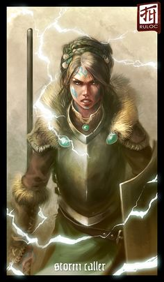 Daily Sketch - Storm Caller by *Ruloc on deviantART