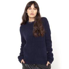 Camisola com decote fantasia Soft Grey | La Redoute