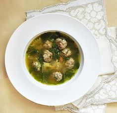 Confessions of a spoon: Italian Wedding Soup. This is the best thing ever! I always have this for Christmas dinner :)