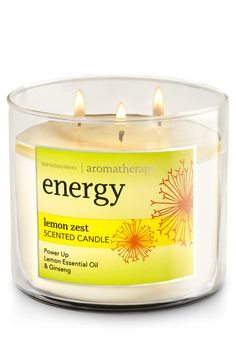 Energy - Lemon Zest 3-Wick Candle - Home Fragrance 1037181 - Bath & Body Works
