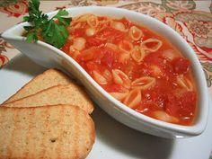 les milles & un délices de ~lexibule~: Soupe aux tomates et aux coquilles de Julie