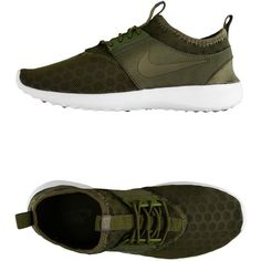 Nike Low-Tops & Trainers ($105) ❤ liked on Polyvore featuring shoes, sneakers, military green, nike, nike footwear, nike sneakers, olive green sneakers and round cap
