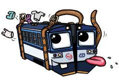 Splašený kufr Body M, Bahn, Humor, Funny, Cheer, Humour, Ha Ha, Lifting Humor, Chistes