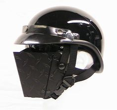 Metal Face Cover - undecided if I am tough enough to pull this off. Motorcycle Face Mask, Custom Motorcycle Helmets, Custom Helmets, Motorcycle Gear, Motorcycle Accessories, Bike Helmets, Women Motorcycle, Scooters, Motocross