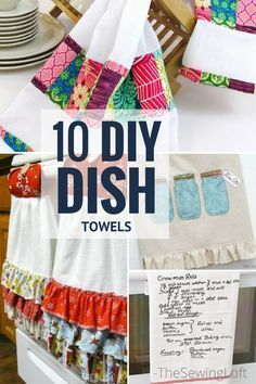 Spice up your kitchen with these 10 Amazing Dish towel DIY projects. Easy to make and even a no sew option.