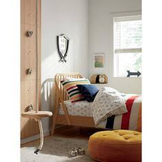 Bodie Oak Spindle Kids Twin Bed + Reviews | Crate & Kids