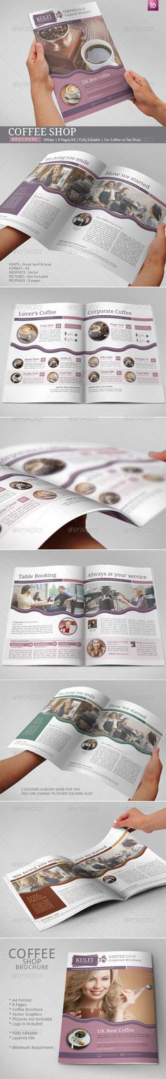 Coffee Brochure Indesign Template Indesign templates, Brochures - coffee shop brochure template