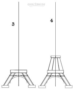 How To Draw The Eiffel Tower Step by Step Pictures  Cool2bKids