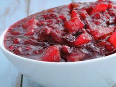 Cranberry Sauce with Pears and Pomegranates