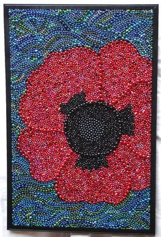 Custom order Original Mardi Gras Bead framed by BayoulandBeads