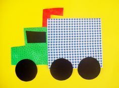 Fabric Applique TEMPLATE ONLY Big Rig Truck by etsykim on Etsy
