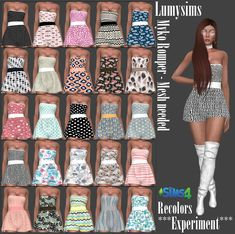 Sims 4 CC's - The Best: Clothing Recolors by Experiment Sims New, Sims 4 Teen, Die Sims 4 Packs, Play Sims 4, Sims 4 Blog, Sims Games, Sims 4 Cas, Sims 4 Cc Finds, Sims 4 Clothing