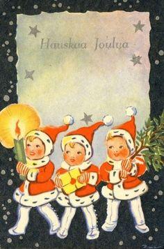"""God Jul CHRISTMAS postcard. """"Have A Good Christmas"""""""
