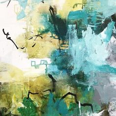 Detail #wip #aqua #abstractart #abstractlandscape #contemporaryart #modernart #art #painting #color #yellow #interiordesign #la #abstractexpressionism #abstract #carlosramirez