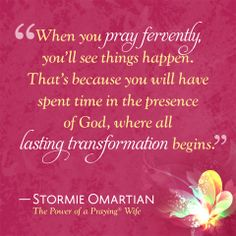 Ϯ ❤ Ϯ                                                                                                    Spiritual Thought                                           By Stormie Omartian