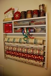 ribbon and wrapping organizer