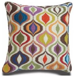 Jonathan Adler Bargello Waves Pillow - eclectic - pillows - Jonathan Adler