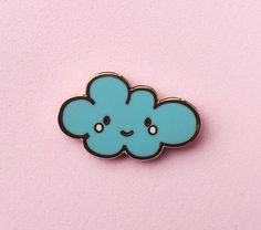 Happy Cloud Lapel Pin- Cute Hard Enamel/Cloisonne Pin Badge