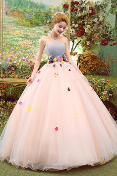 quinceanera dresses Modest Quinceanera Dress,Floral Ball Gown,Fashion Prom Dress,Sexy Party Dress,Custom Made Evening Dress - Ball Gown Dresses, Tulle Ball Gown, Evening Dresses, Modest Dresses, Pretty Dresses, Prom Dresses, Robes Quinceanera, Fairytale Dress, Sexy Party Dress