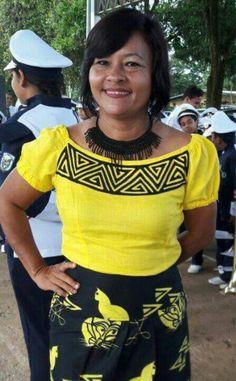 Mola and saburete skirt