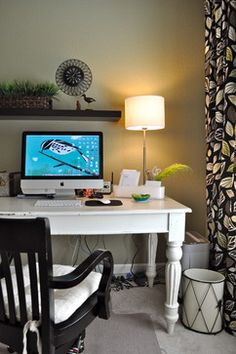 Black And White Office Design Ideas, Pictures, Remodel, and Decor