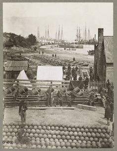 Yorktown, Virginia  A scene during the Civil War... - Back then...