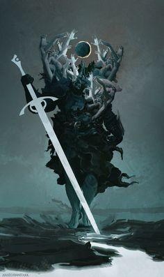 Concept art characters by Anato Finnstark Concept Art Landscape, Fantasy Concept Art, Fantasy Character Design, Dark Fantasy Art, Character Design Inspiration, Fantasy Artwork, Character Art, Demon Artwork, Fantasy Men